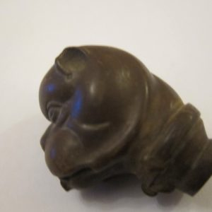 19th Century French Bulldog Cane Head/Treen canes Antique Collectibles