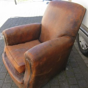 Antique French Leather Armchair French Antique Chairs