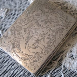 19th Century Austrian Solid Silver Snuff Box Antique Silver Antique Silver