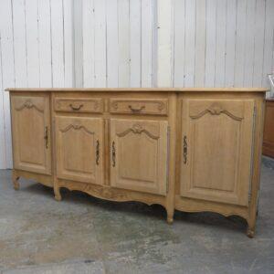 Bleached Oak French Enfilade Sideboard sideboard Antique Cupboards