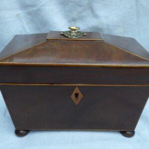 Georgian mahogany tea caddy circa 1800 tea caddy Antique Boxes