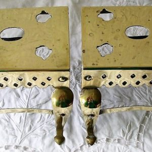 Pair Miniature Brass Footmen
