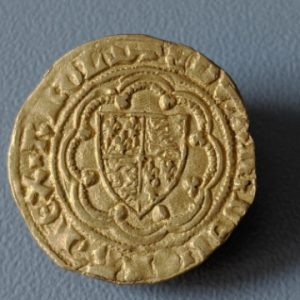 gold medieval quater noble