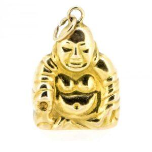 14k God Of Plenty/Buddha Charm,14ct Buddha Charm charms Antique Jewellery