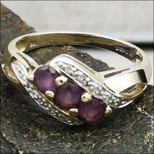 9ct Amethyst And Diamond Ring (gold107066) Antique Jewellery