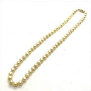 9ct Gold 16″ Pearl Necklace With 9ct Gold Clasp (gold642025) Antique Jewellery