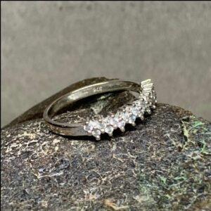 9ct White Gold Diamond Ring (gold72050) Antique Jewellery
