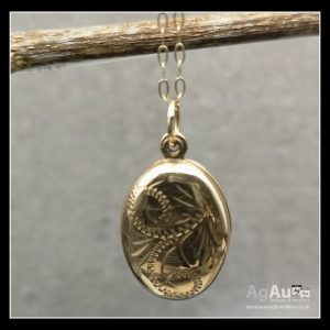 9ct Gold Locket and Chain Antique Jewellery