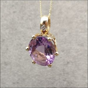 Amethyst and Diamond Combined Package Earrings and Pendant & Necklace Antique Earrings