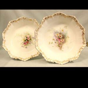 Pair Antique Doulton Bowls