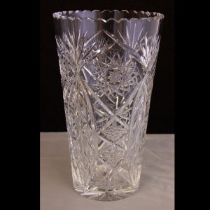 Large Cut Glass Vase.
