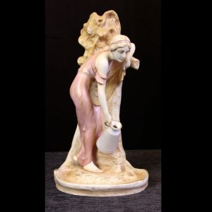 Antique Royal Dux Figure of Young Girl
