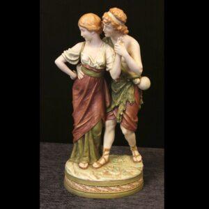 Antique Large Royal Dux Centre Piece Figure Group