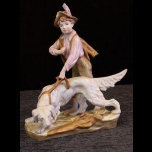 Vintage Royal Dux Figure of Hunting Dog