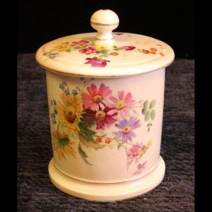 Antique Royal Worcester Blush Ivory Lidded Jar