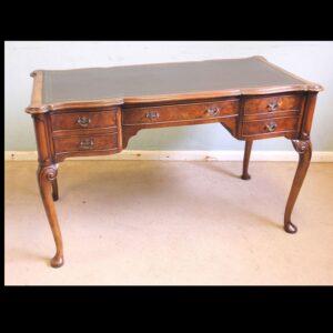 Antique Quality Burr Walnut Writing Desk