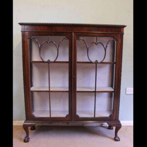 Antique Mahogany Glazed Display Cabinet.