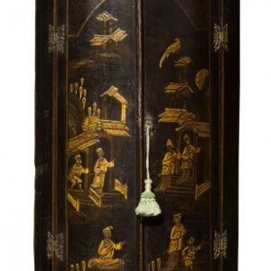 18thc bowfronted lacquered corner cupboard Antique Cupboards