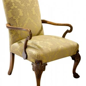 19thc Geo II style walnut Gainsborough chair Antique Chairs
