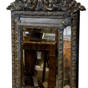 "19thc style Dutch ""boarder"" mirror c1850 Antique Mirrors"