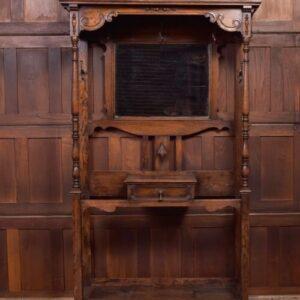 Edwardian Carved Oak Hall Stand SAI2119 Antique Furniture