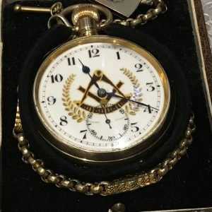 Masonic pocket watch and chain & Fob Antique Watches