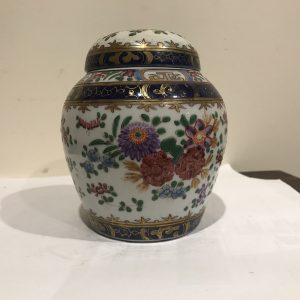 Chinese Qing Dynasty's Ginger Jar Hand-painted Antique Ceramics