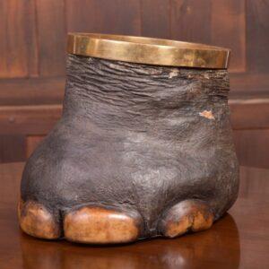 Victorian Taxidermy Elephants Foot Waste Paper Bin SAI2096 Antique Furniture