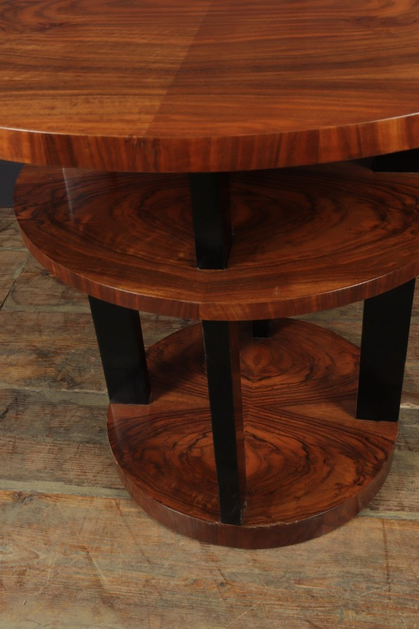 Antique Furniture For Sale | Art Deco Centre Coffee Table in Walnut
