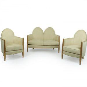 Art Deco Gilt-wood Salon Suite Attributed to Paul Follot c1925 Antique Chairs