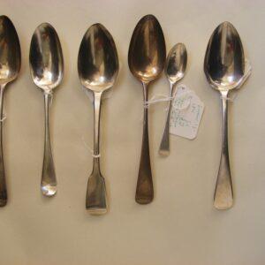 Large Selection of English Sterling Silver Flatware including Bateman family c1790 onwards Bateman Antique Silver