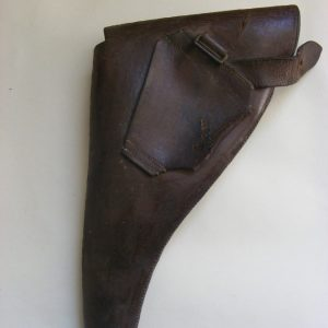 Rare DATED World War One WW1 Pistol Holster Leather 1917 Military Soldier Uniform corps Antique Guns