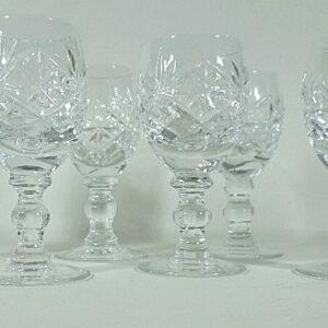 6 Tiny Crystal Liqueur Glasses Miscellaneous
