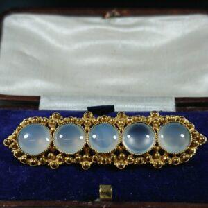 Antique Genuine Moonstone Brooch brooch Miscellaneous