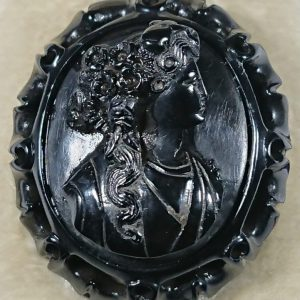 Antique Whitby Jet Cameo Brooch Brooch Whitby Jet Antique Jewellery