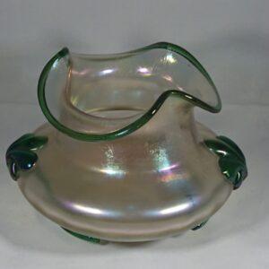 Antique Art Nouveau Iridescent Glass Vase by Kralik Antique Glass Vase Antique Glassware
