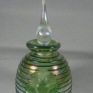 Iridescent Studio Glass Perfume Bottle iridescent glass Antique Glassware