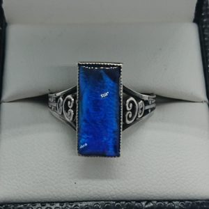 Vintage Silver Set Butterfly Wing Ring art deco style Antique Jewellery 2