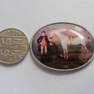 Exquisite Enamel on Copper Equestrian Scene Racing Horse c1790 Silver Georgian Riding Antique Silver Antique Jewellery