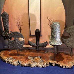 Yari Saya display Samurai spear covers japan Antique Furniture 2