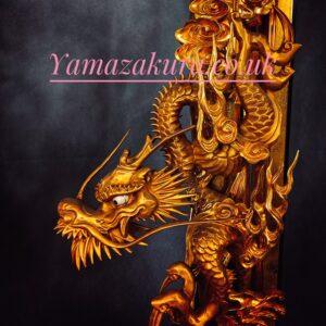 Temple Dragons buddhist Antique Art
