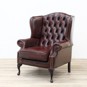 Red leather Chesterfield Armchair armchair Antique Chairs