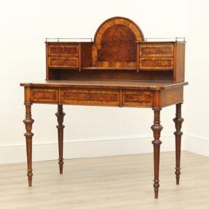 Early Victorian Burr Walnut Bonheur De Jour Bonheur De Jour Antique Desks