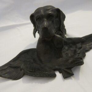"19th Century French Bronze ""Dog"" Inkwell bronze Antique Metals"