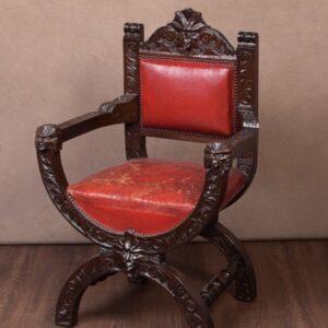 Late 19th Century Carved Oak Arm Chair SAI1749 Antique Furniture