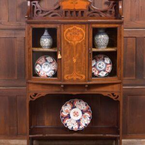 Art Nouveau Marquetry Mahogany Display Cabinet SAI2240 Antique Cabinets