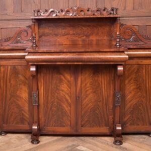 Outstanding William IV Flame Mahogany Break-centre Side Cabinet SAI1978 Antique Furniture