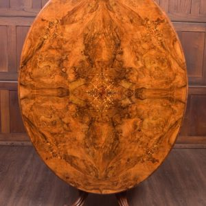 Fabulous Victorian Inlaid Burr Walnut Snap Top Loo Table SAI1905 Antique Furniture