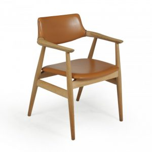 Mid Century Desk Chair in Oak by Erik Kirkegaard Antique Chairs