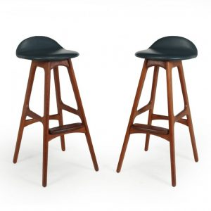 Pair of Teak Bar stools by Erik Buch erik buch Antique Stools